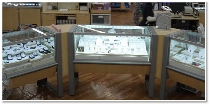 LED Lighting Jewelry Showcase